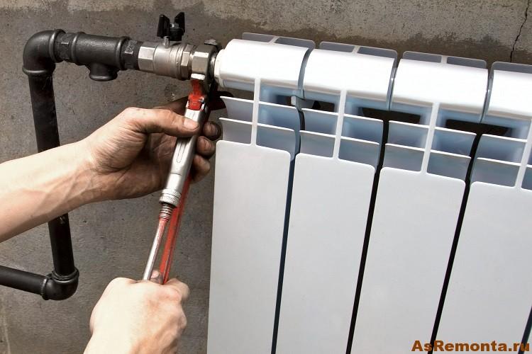 Как проивести монтаж радиатора отопления в квартире