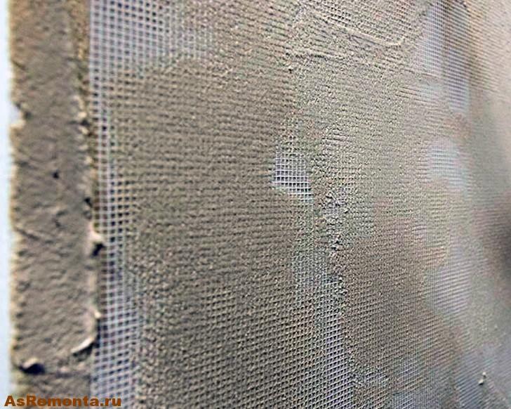 Как шпаклевать стены с сеткой под обои