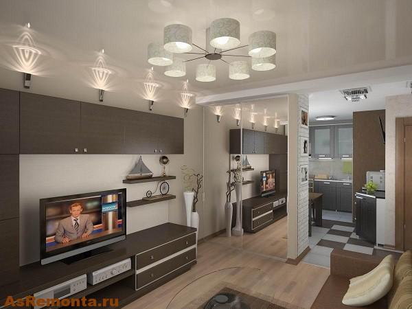 Дизайн квартиры студии двухкомнатной