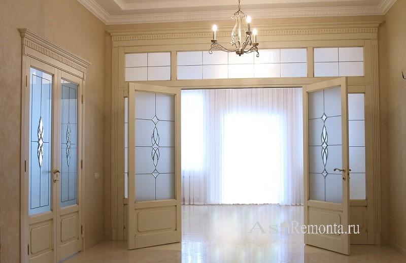 Двустворчатые нестандартные двери межкомнатные