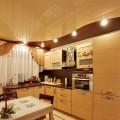 Цвет натяжного потолка на кухне