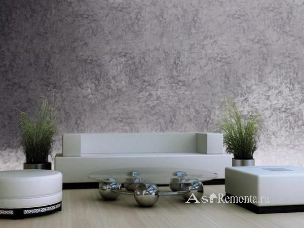 Декоративная окраска под металл стен в квартире