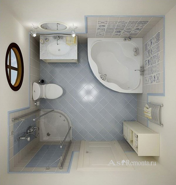 Дизайн маленьких ванных совмещенных