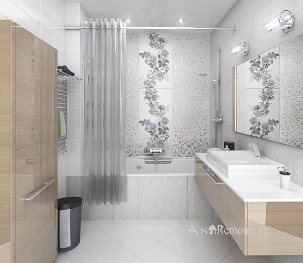 фото в маленькой ванной комнате плитка