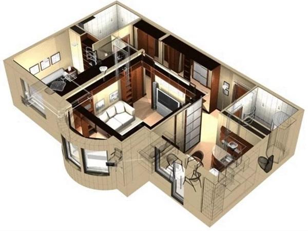 Дизайн проект интерьера квартиры с перепланировкой