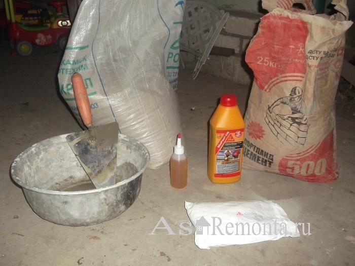 Составляющие качественного бетона на дорожку